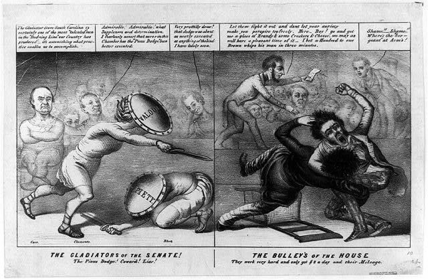 19th century reporters carried clubs and knives to defend themselves against murderous Congressjerks