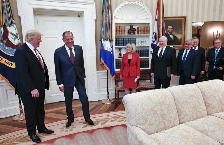 """Trump told Russians in Oval Office that Comey's firing relieved """"great pressure,"""" called FBI director """"nut job"""""""