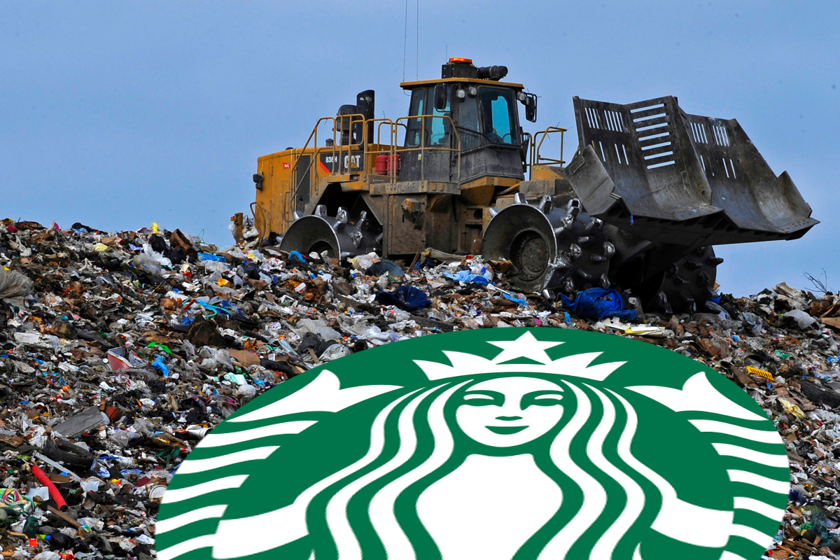 Every year, Starbucks sends 4 billion nonrecyclable paper cups to landfills