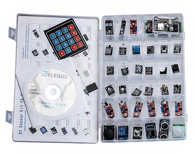 37 different sensor and effectors for Arduino $24