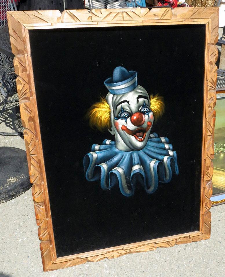 Black Velvet Clown Painting