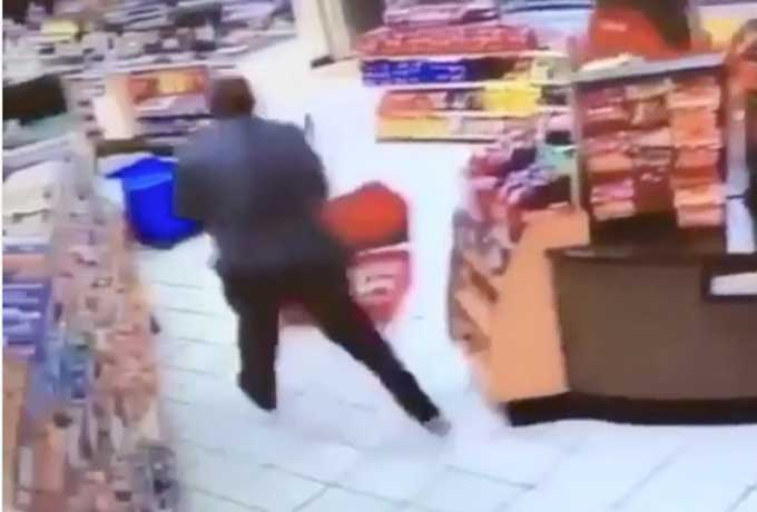 Cashier calmly stops would-be beer thief