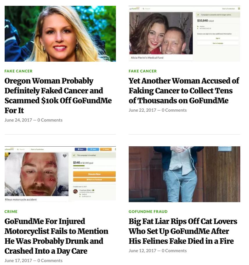 Blog exposes fake GoFundMe campaigns