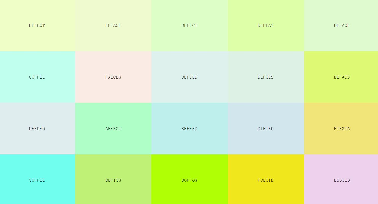 css page color - real words that work as css colors for your website