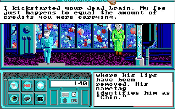 The forgotten cyberspace of the Neuromancer computer game