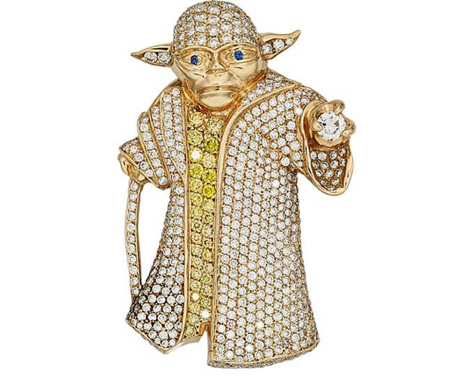 Diamond yoda pendant to be auctioned boing boing aloadofball Images
