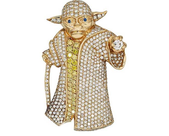 Diamond Yoda pendant to be auctioned