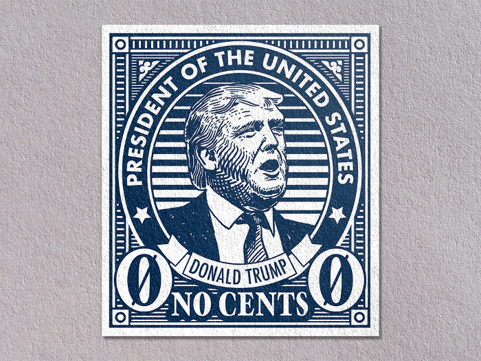 a no sense trump postage stamp boing boing