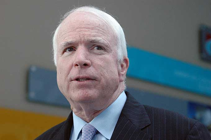 John McCain Spends Weekend Outdoors With Daughter, Friend
