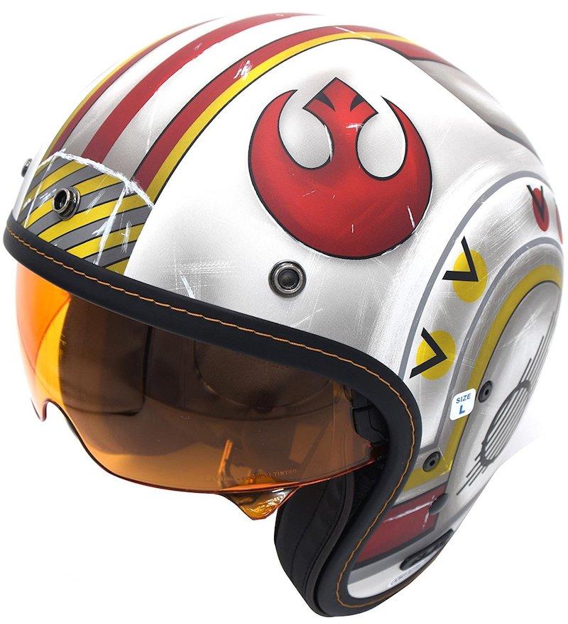 star wars red squadron dot approved motorcycle helmet. Black Bedroom Furniture Sets. Home Design Ideas