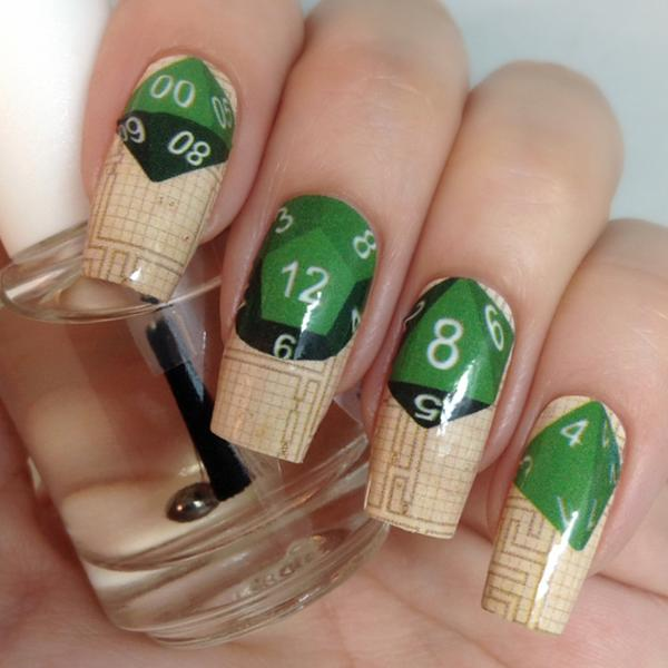 Espionage Cosmetics Has Your Nerdy Nail Art Needs Covered With The D20 Themed 10 Critical Hit Wraps Circuit Board And