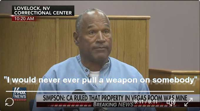 OJ placed in protective custody after winning parole