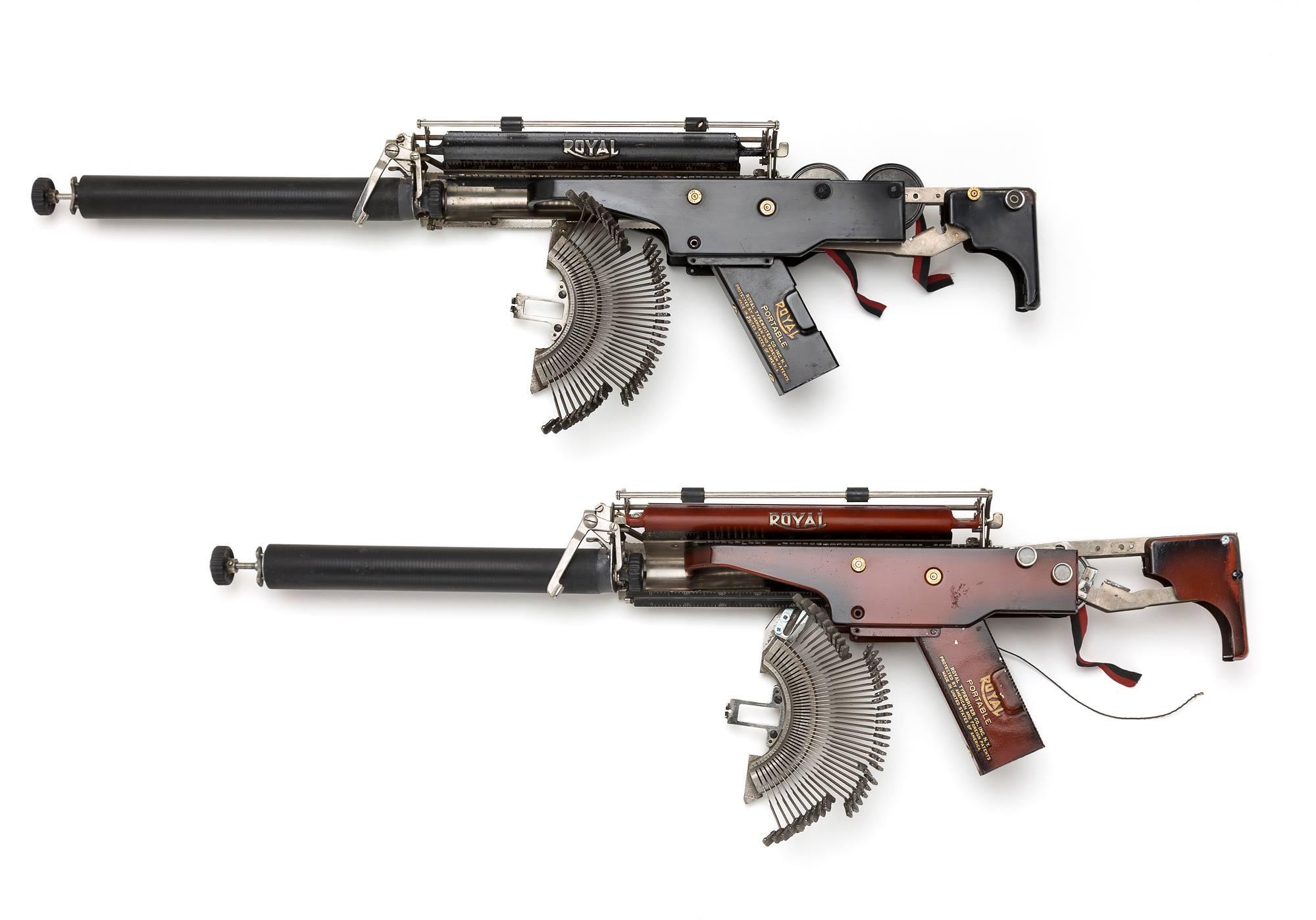 Typewriter guns / Boing Boing