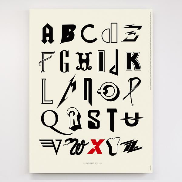 Can you name all 26 bands whose fonts comprise this alphabet