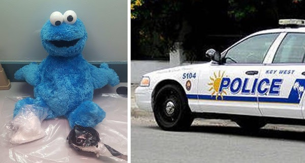 Me want cocaine? Drugs found inside Cookie Monster doll