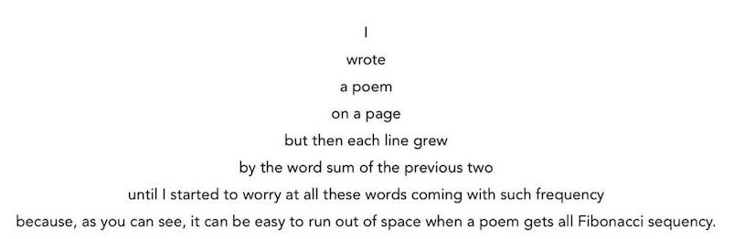 Delightful Fibonacci sequence poem
