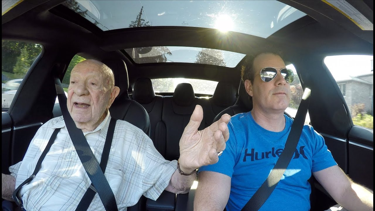 boingboing.net - Rusty Blazenhoff - 97-year-old man takes his first ride in a Tesla