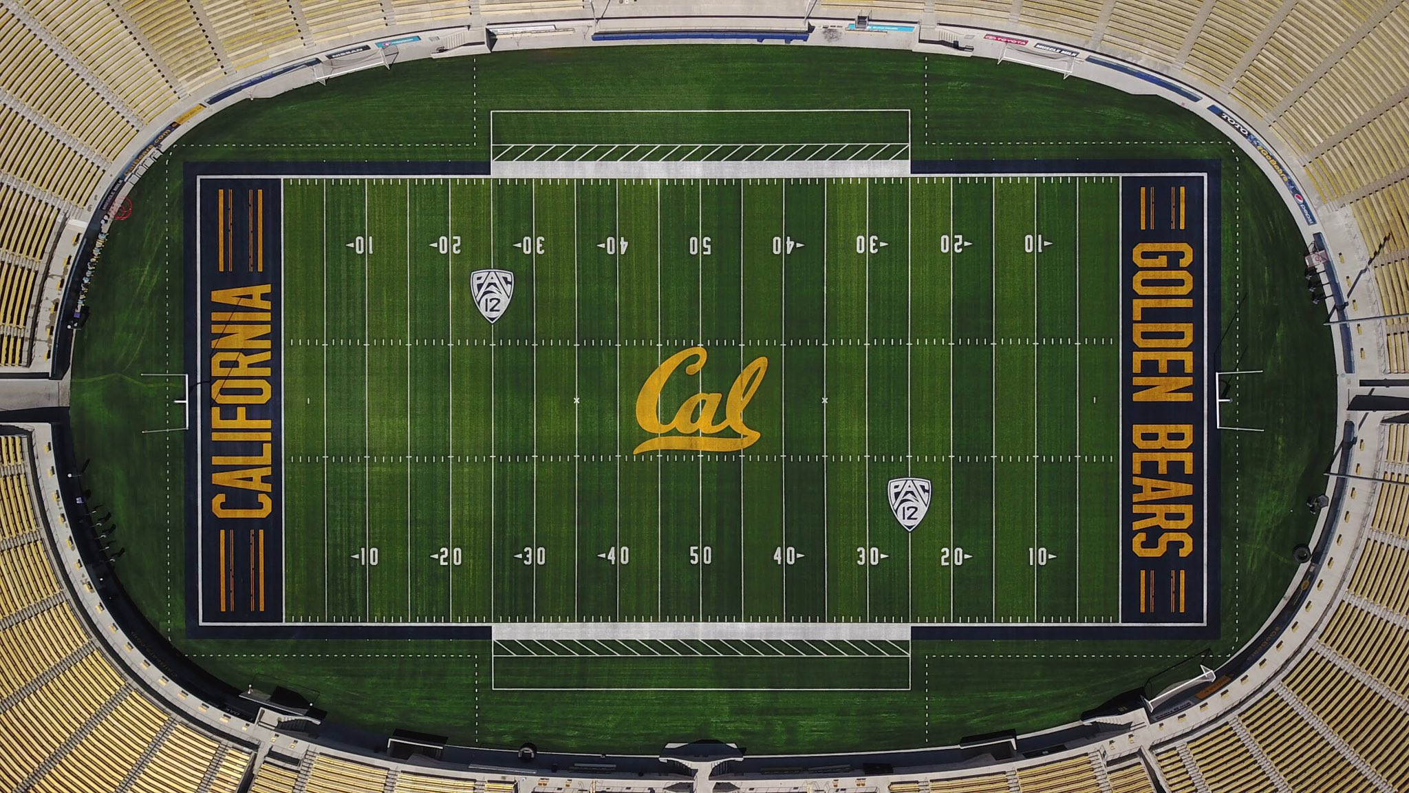 Cal Berkeley Put A Crooked Line On Its New Football Field To Show