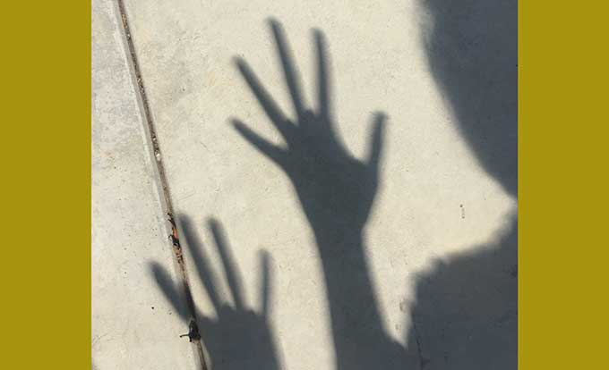My hand shadows looked weird during the eclipse