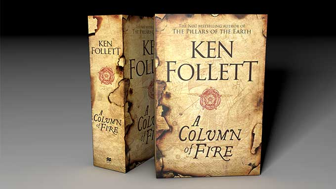 Interview with Ken Follet about forthcoming 3rd book in Kingsbridge series: A Column of Fire