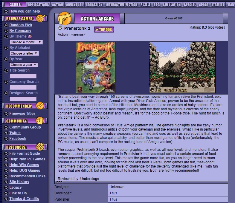 Legendary abandonware site Home of the Underdogs remembered / Boing