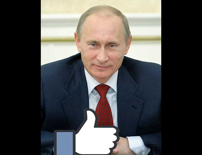 Image result for image of russians meddling with election on facebook