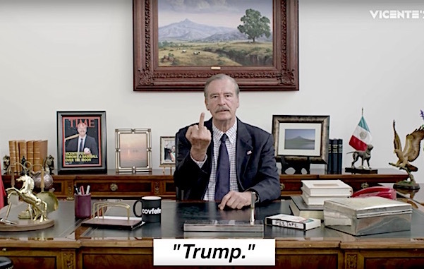 """Vicente Fox's 2020 campaign for US president: """"Donald, you suck so much at this job"""""""