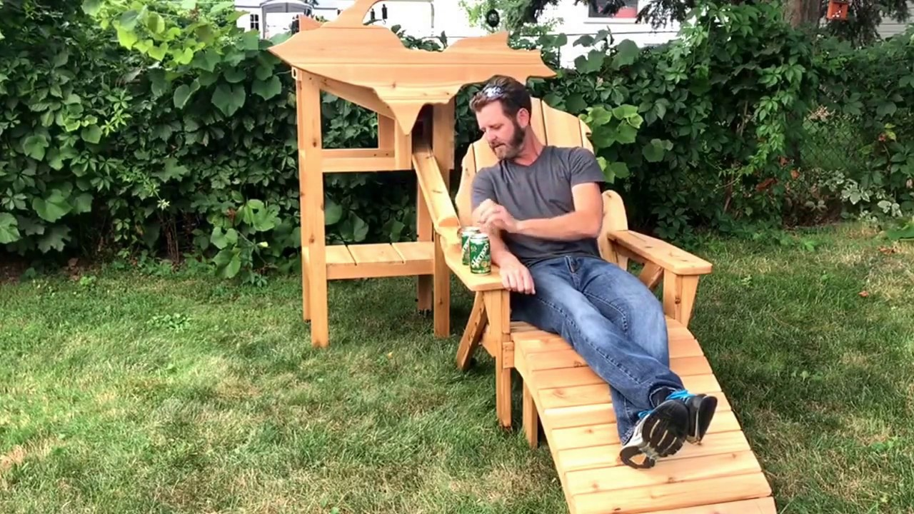 This Michigan Shaped Adirondack Chair Dispenses Cold Beverage Cans / Boing  Boing