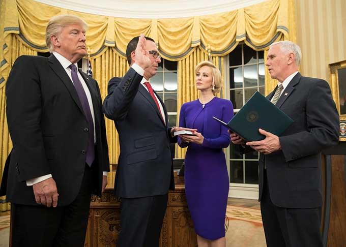 Trump's Treasury Secretary Steve Mnuchin asked for $25K/hr Air Force jet for his European honeymoon