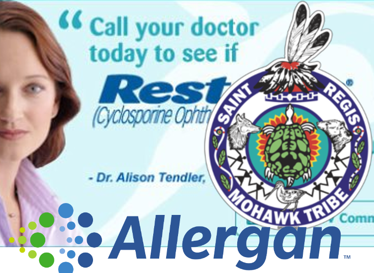 Pharma giant Allergan pays Mohawk tribe to serve as human shields against patent challenges