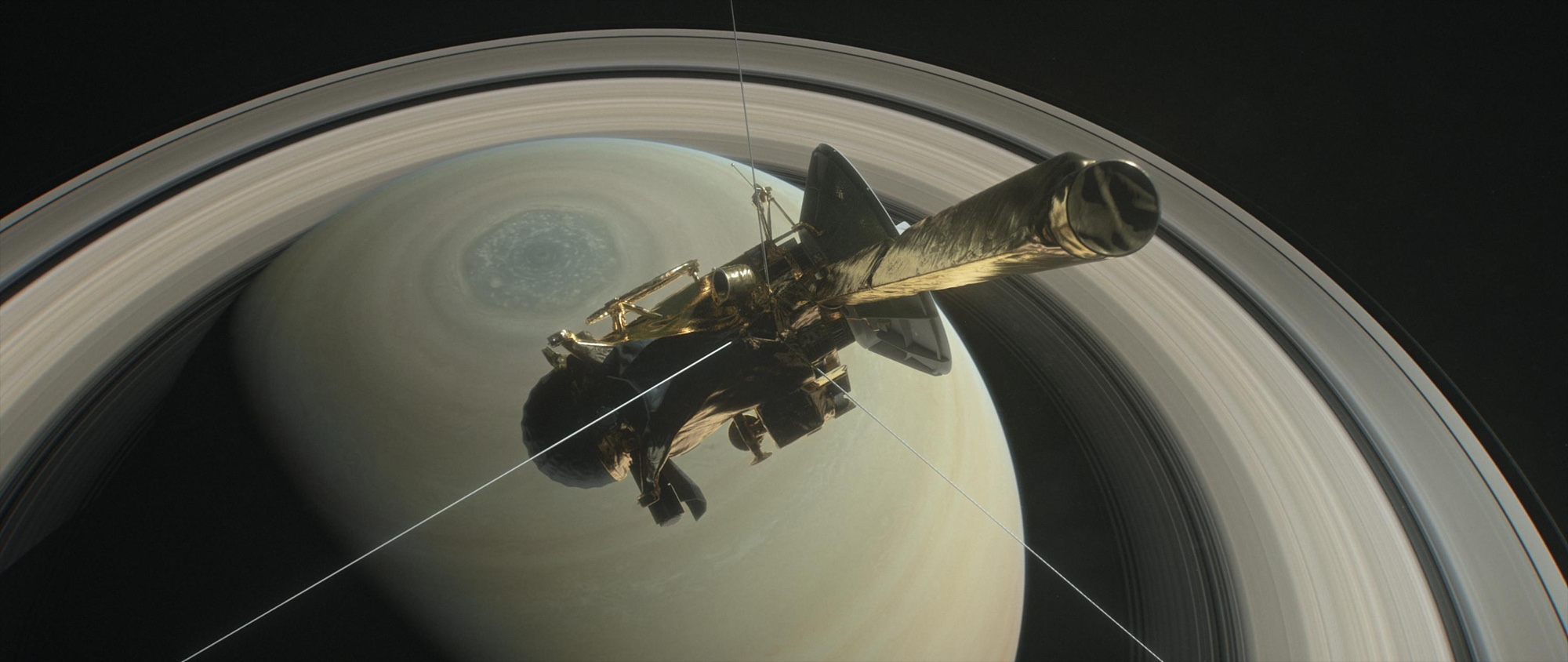 NASA Cassini Spacecraft Makes Final Approach to Saturn, 'Grand Finale' set for Fri. Sep. 15