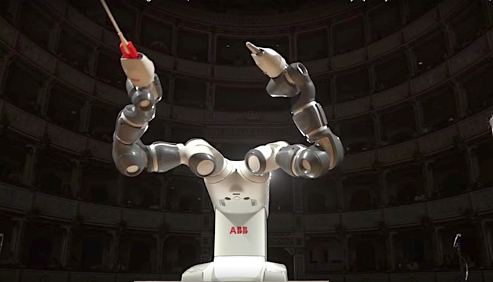 Orchestra conductors watch out - here's a robot who can do