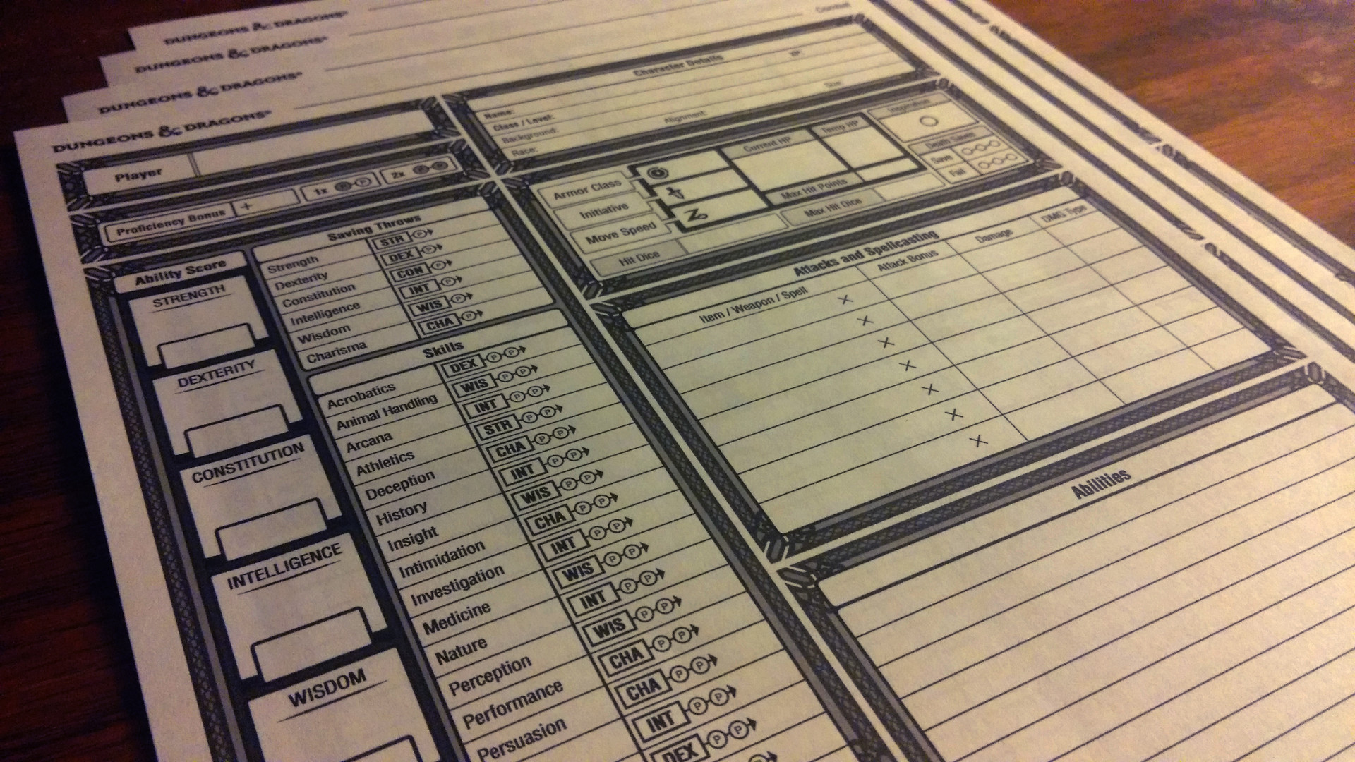 image relating to 5e Character Sheet Printable called Breathtaking, totally free, and downloadable DnD Temperament Sheets