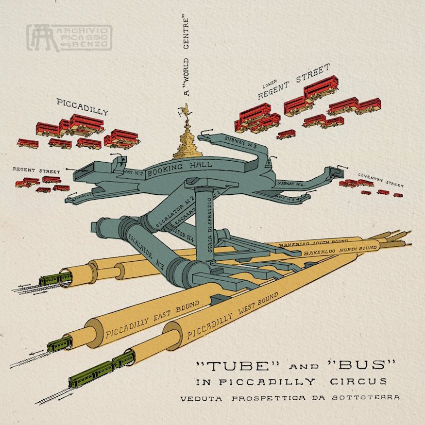 london s amazing underground infrastructure revealed in vintage cutaway maps boing boing