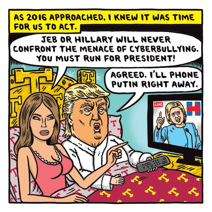 Comic about Melania Trump as a secret agent fighting against cyberbullies