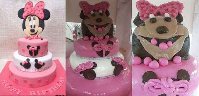 Minnie Mouse cake looks like a monster Boing Boing