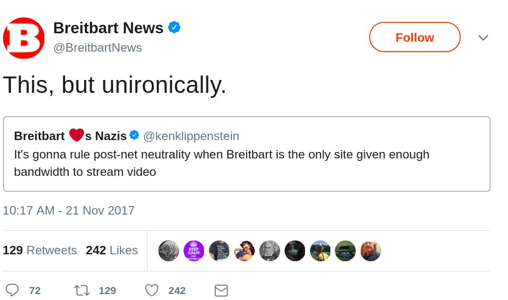Breitbart is too dumb to survive the net neutrality apocalypse