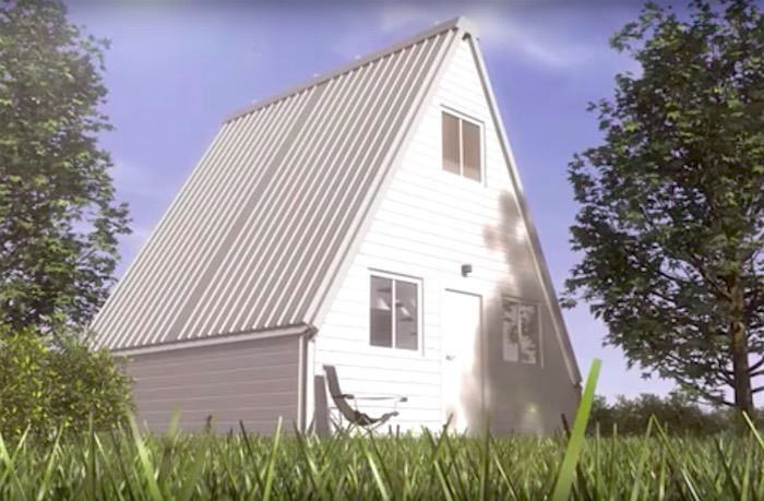 Watch: A fast-mo video of a flat-pack house that can be unfolded and assembled in 6 hours