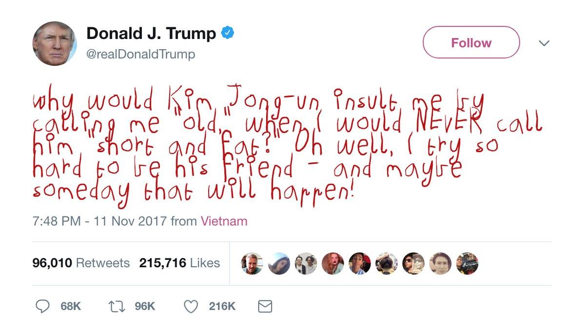 A plugin to display Trump tweets in crayon font