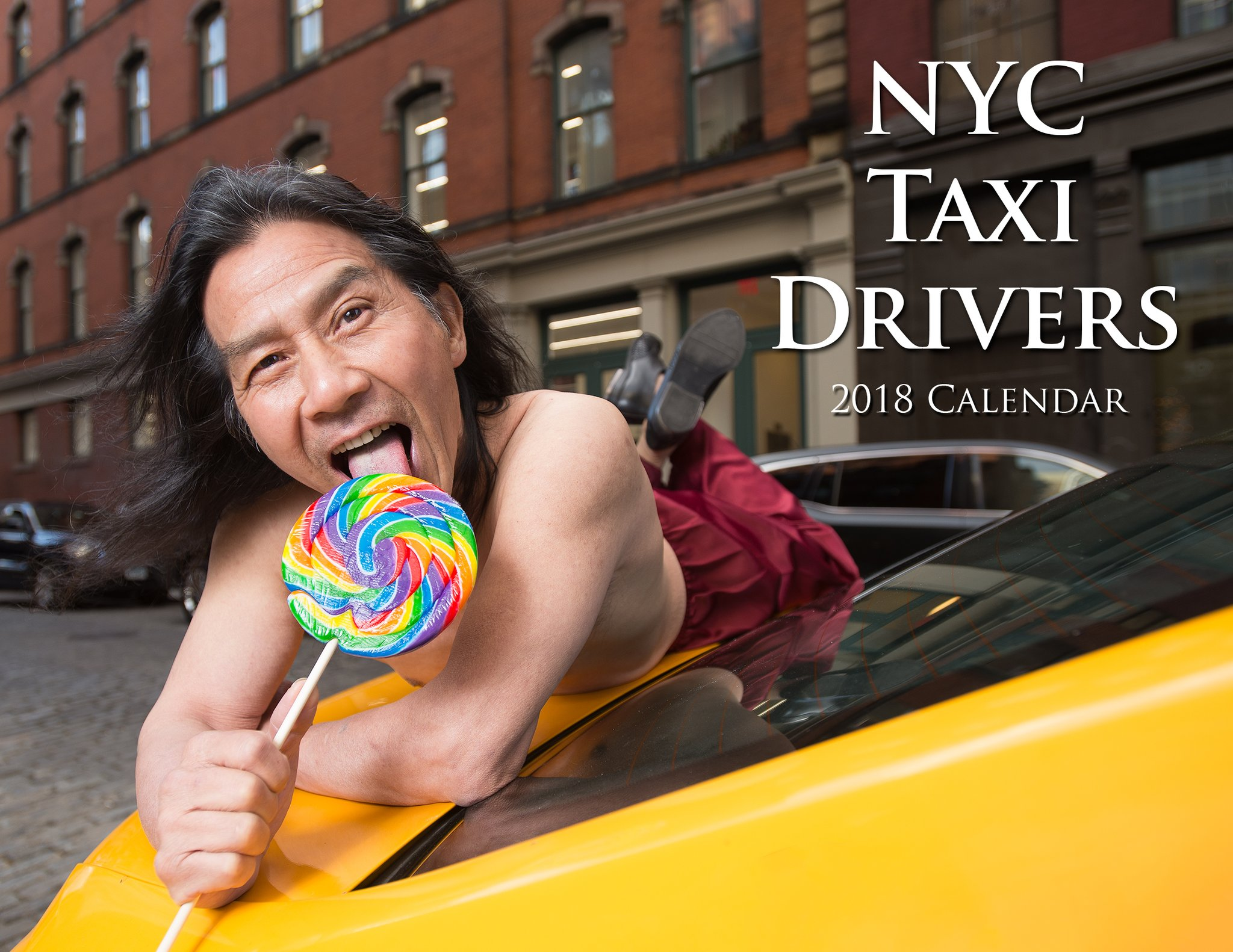 NYC yellow cab drivers pose for pin-up charity calendar