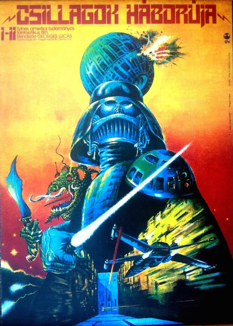Trippy Cold War-era Hungarian Star Wars movie posters