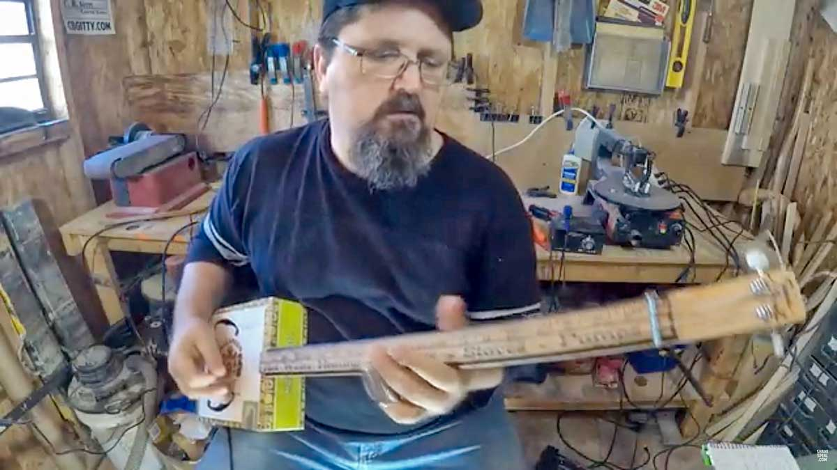 Shane Speal Tries Out His 2 String Cigar Box Guitar Boing Boing