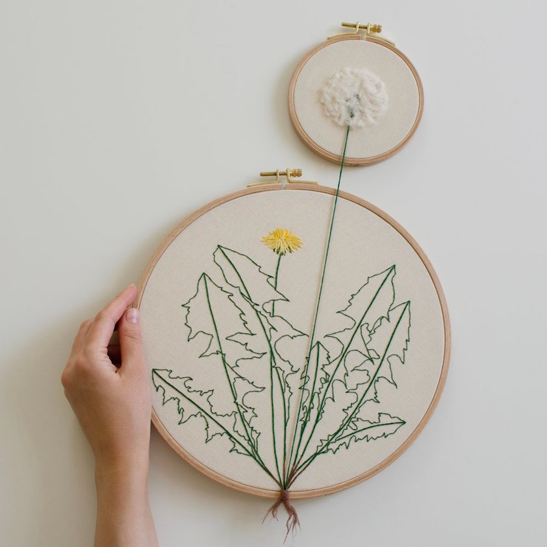 Whimsical Plant Embroidery That Extends Beyond The Hoop Boing Boing