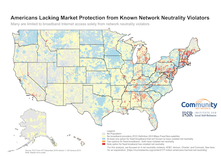 100 million Americans live in areas where every single ISP ...