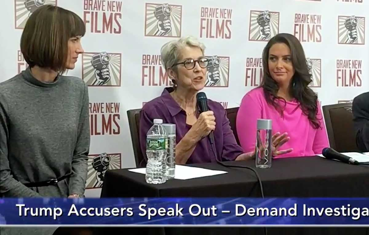 Trump accusers speak out against president's sexual assault