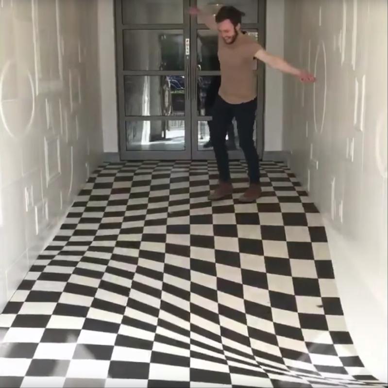 Watch This Install A Vertigo Inducing Tile Floor