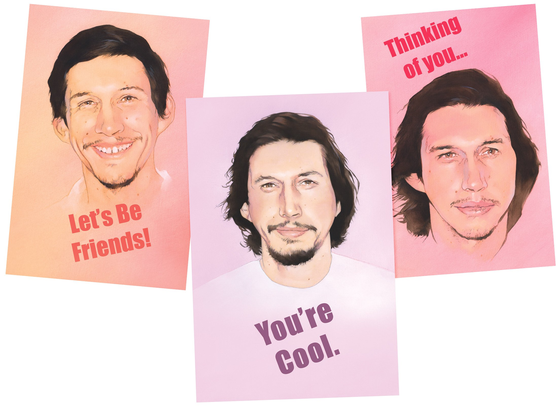 Confuse Loved Ones With Adam Driver Valentines Day Cards Boing Boing