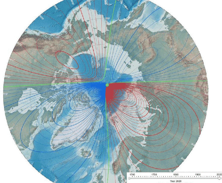 Earth's magnetic poles may be getting ready to flip