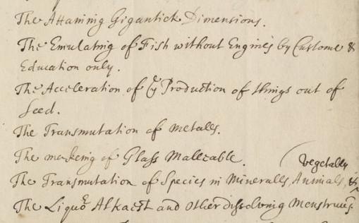 Robert Boyle's 17th century wishlist for future scientific breakthroughs
