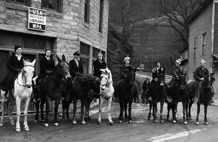 The horseback librarians of the 1930s